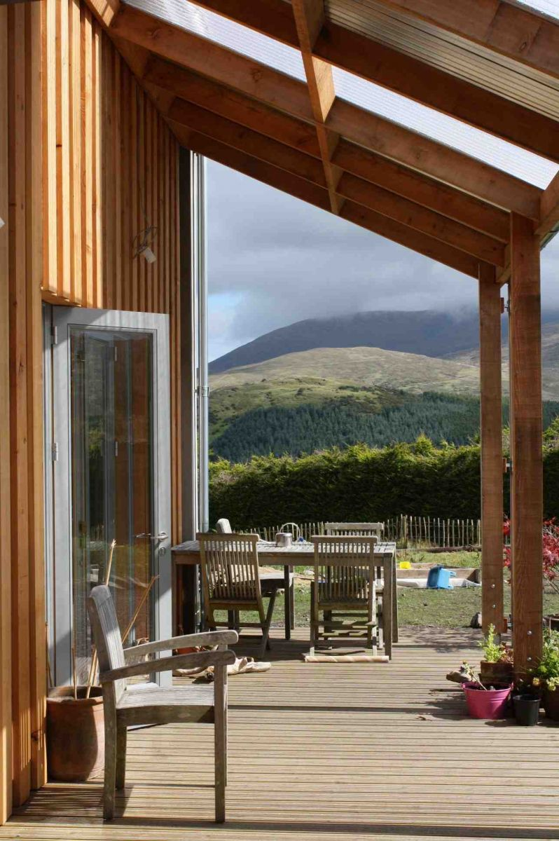 Timber-frame dwelling in the Mournes - Veranda